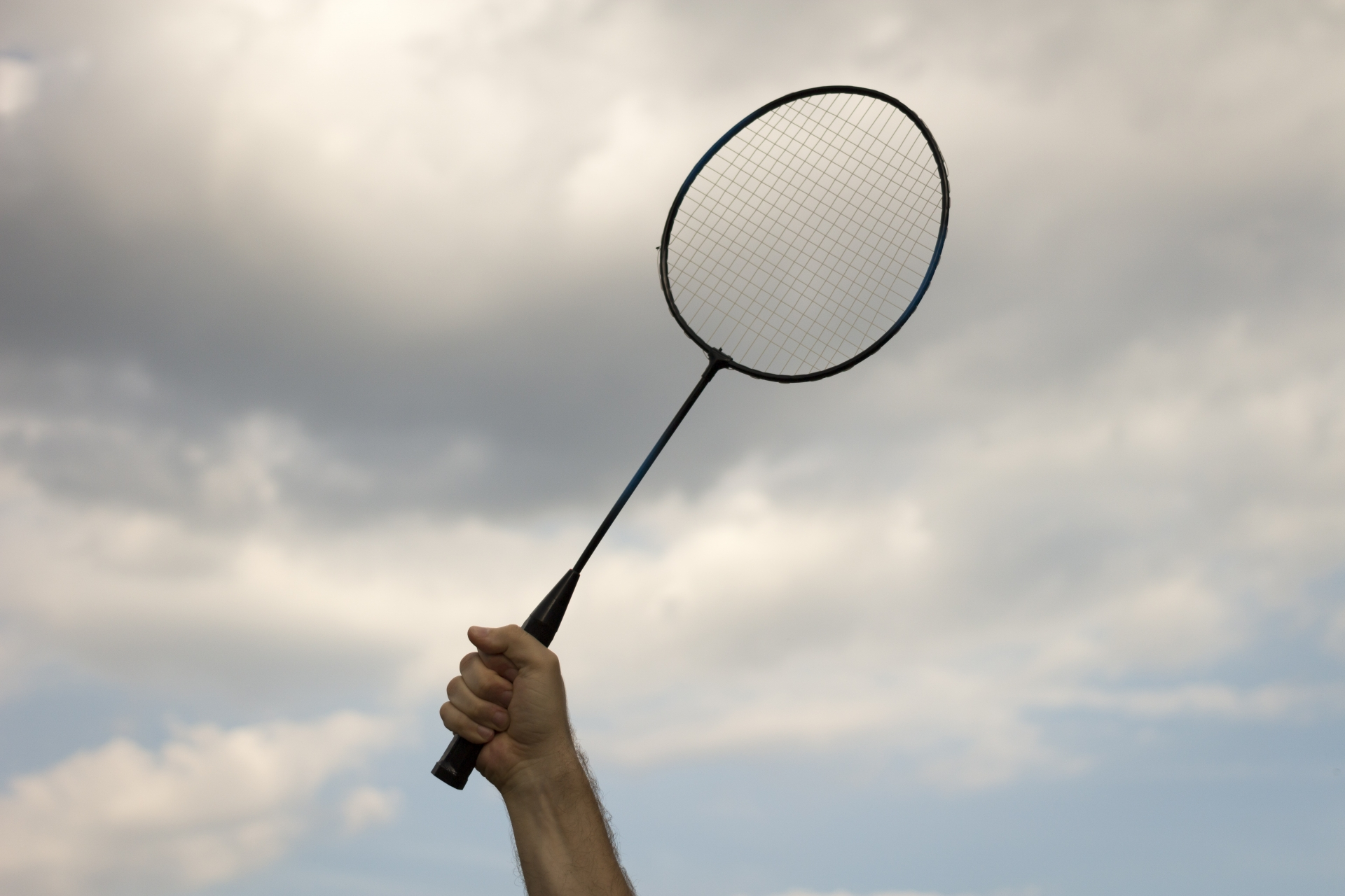 racket and sky
